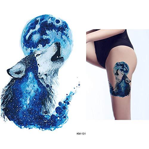 Lihaohao acquerello disegno tatuaggio impermeabile simulazione adesivo tatoo temporaneo blue horse butterfly peacock per body art 15x21cm 4pz