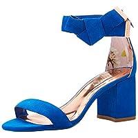 Ted Baker Women's Kerria Sandal, Blue Suede, 7 B(M) US