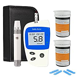 Blood Glucose Monitoring Kit Blood Sugar Testing Kit Diabetes Test Kit With 50 Codefree Test Strips + 50 Lancets + Case For Uk Diabetics (In Mmoll)