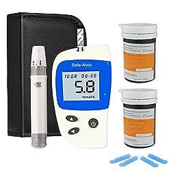 Blood Glucose Monitoring Kit Blood Sugar Testing Kit Diabetes Test Kit With 50 Codefree Test Strips + 50 Lancets + Case For Uk Diabetics (In Mmoll)
