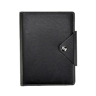 Arpan Notizbuch mit gepolstertem Einband und Druckknopf, Liniert, A5 A5 Schwarz