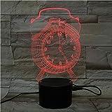 Luce Notturna Acrilica Della Decorazione Della Casa Di Controllo Di Tocco Della Base Di Bluetooth Della Sveglia Acrilica 3D
