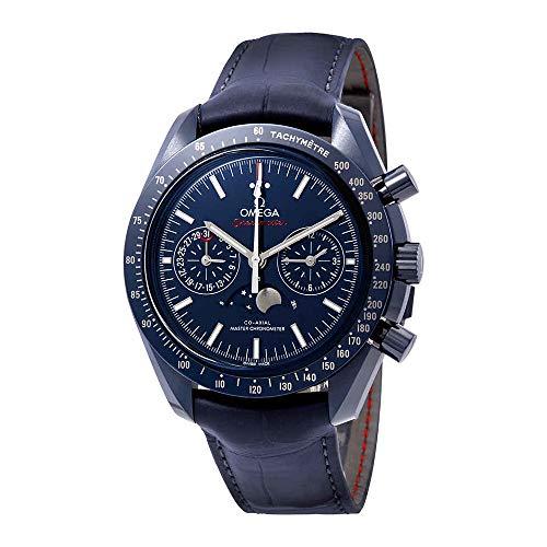 Omega Speedmaster 304.93.44.52.03.001 - Orologio automatico da uomo con quadrante in ceramica, colore: Blu