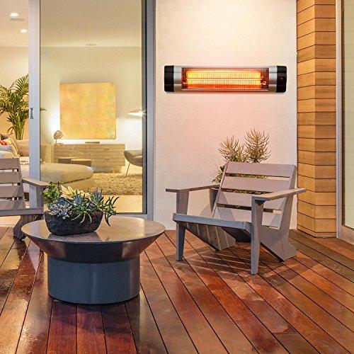 Blumfeldt Rising Sun • Infrarot-Heizstrahler • Carbon-Heizelement • gezielte Wärmeabgabe • Höhenverstellbarkeit von 70 cm • Stativ-Standfuß • 850 / 1650 / 2500 Watt Leistung • Abschalt-Timer bis 24 St. • LED-Anzeige am Gerät • Fernbedienung • Aluminium - 2
