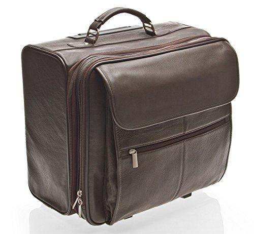 Sac de voyage pour homme d'affaires en cuir marron - HIDEONLINE