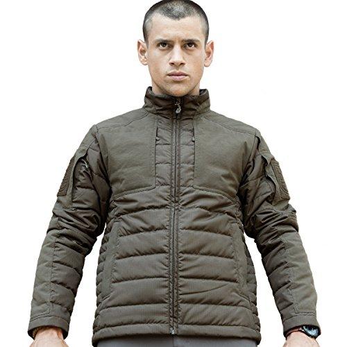 FREE SOLDIER Herren Jacke Padded leicht warm wasserabweisend Outdoor Coat Jacke (Grün M) (Bubble Jacket Quilted)