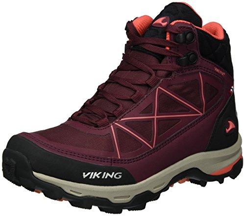 Viking Ascent II GTX, Chaussures de Randonnée Hautes Femme Rot (Wine/Coral)