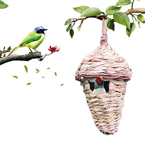 Vogelhaus Straw Hanging Birds Nest Handgewebte Bird Feeder Rest Nest -