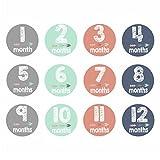 Wasser Proof Baby Monatliche Milestone Foto Prop Bauch Aufkleber, 12Aufkleber Geschenk, Set, 0–12M