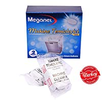 Meganet Dish Washer Cleaner Tablets   Helps Descale Maintain Machine  Removes Limescale  Clears Grease   Cleans Hidden Parts  Neutralises odours   2 Tablets  Use Once a Month   Imported from Turkey 