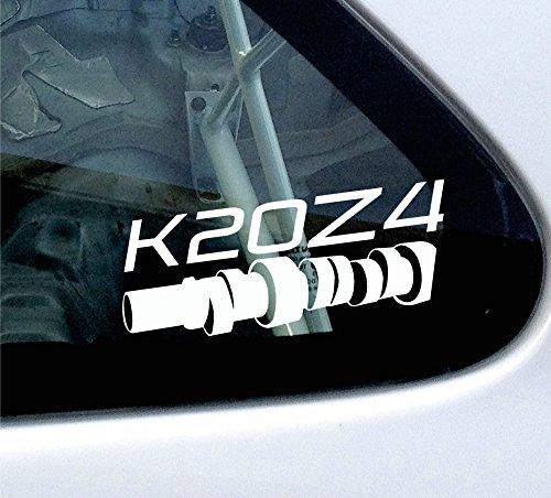 Adesivo K20Z4 per Honda Civic Type R (FN2) (Adesivo Vtec)
