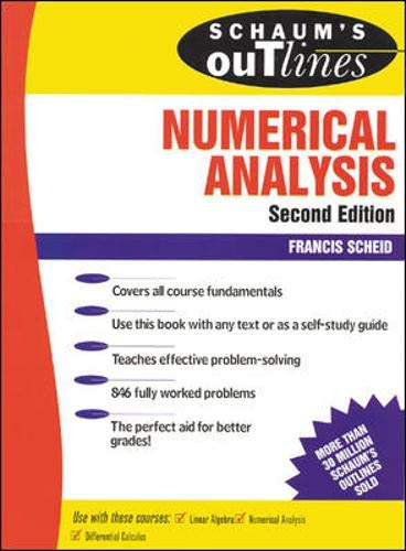 Schaum's Outline of Numerical Analysis (Schaum's Outline Series)
