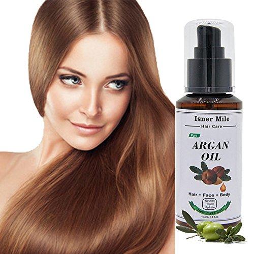 Bio Huile d'argan marocaine pour cheveux et la peau, 10,1 cl. oz. Pawaca 100% pure huile d'argan Cheveux Après-Shampooing