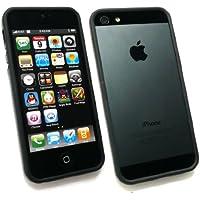Emartbuy® Apple Iphone 5 5s Moulded Bumper Frame Gel Cover / Case Solid Schwarz