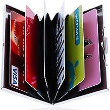 Cartera–titular de la tarjeta–Acollador de tarjeta–tarjetas de crédito Holder–Cartera de tarjeta de Crédito–Soporte de tarjeta cartera–ostras titular de la tarjeta–Banco Titular De La Tarjeta–Soporte de tarjeta ID titular de la tarjeta–para Hombres y Mujeres–con tecnología RFID White Gift Box