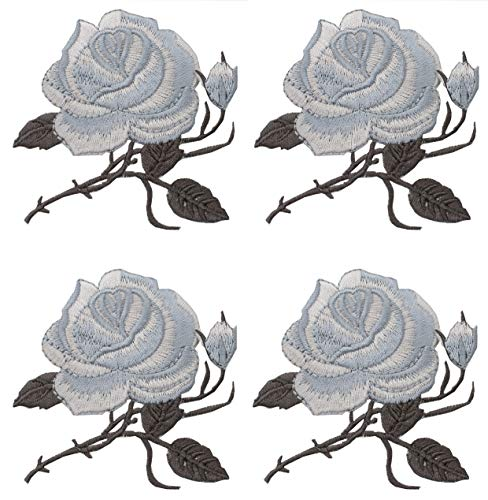 4 Piece Patches Embroidery Rose ...