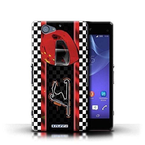 Kobalt® Imprimé Etui / Coque pour Sony Xperia A2 / Malaisie conception / Série F1 Piste Drapeau Chine/Shanghai