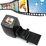 Film Scanners,elecfan® 35mm Slide Scanner Film Scanners Slides to Digital Converter Support SD Card (Mit 32G SD Karte, Schwarz)