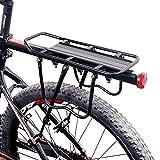 Centtechi Gepäckträger Fahrrad Hinten Fahrradträger Universal Fahrradzubehör Verstellbar Mountainbike Reitstock Racks, Aluminiumlegierung, Max. Zuladung 25kg
