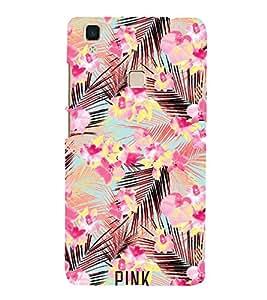 Pink Coconut Trees 3D Hard Polycarbonate Designer Back Case Cover for VIVO V3 MAX