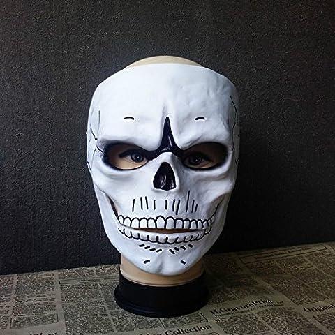 Erwachsene Männer Halloween James Bond 007 Gespenst Cosplay Horror Schädel Skelett Maske