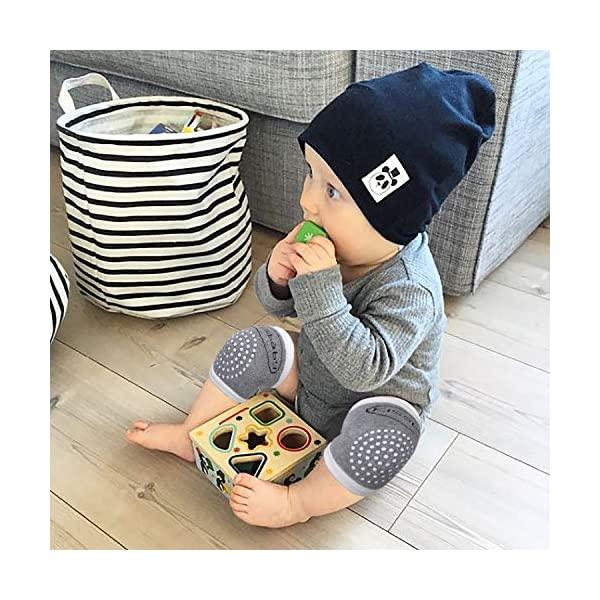 QH-shop 3 Pares Rodilleras para Bebés y 3 Pares Calcetines con Silicona Antisdeslizantes Almohadillas para Niño Rodilla… 3