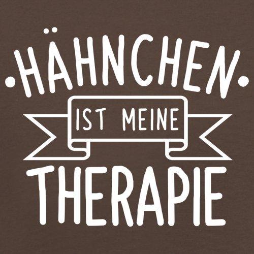Hähnchen ist meine Therapie - Herren T-Shirt - 13 Farben Schokobraun