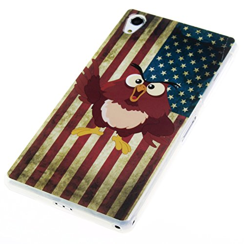 "Handy Lux® Schutz Hülle Etui Silikon TPU Cover Case Design Motiv für Apple iPhone 6 (4,7"") - Keep Calm and Carry on UK USA Pirat Eule"