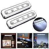 Bluelover Prise s'allume 5 LED autocollante sous la lumière de nuit armoire Push