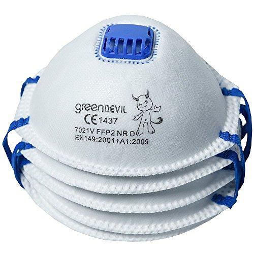 Connex COXT939124 Feinstaubmaske FFP2 mit Ventil, 5 Stück,