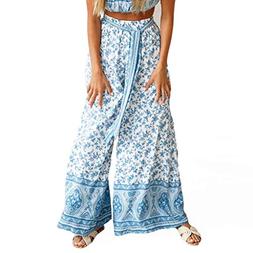 Mode Femme été Impression Bretelles Droites Jambe Large Pantalons de Loisirs, Plus la Taille Ethnique Grande Haute Pas Cher Militaire Enceintes Fluide Cargo Hiver Yoga Sport Camouflage Slim Stretch