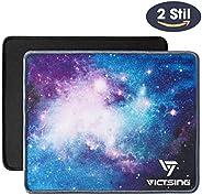 VicTsing Mauspads Set, [2er-Pack] Gaming- und Office-Mauspads, Größe 260x220x4mm, wasserdicht, rutschfeste Gummibasis, Lapto
