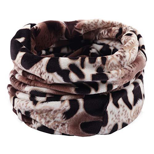 Dashuaige sciarpa scaldacollo unisex a doppio strato scaldacollo sciarpa invernale in pile sciarpa lavorata a maglia sciarpe scialle sciarpa con cappuccio uomo hijab
