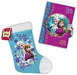 2in1-SET Disney Die Eiskönigin Tagebuch mit Schloss + Weihnachtsstiefel | Frozen Set