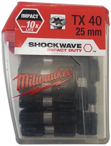 Milwaukee TX40 x 25 mm-BIT (4932352709 Lot de 25)
