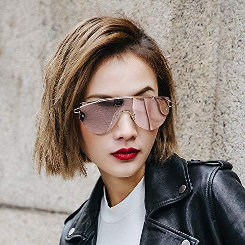 Han Ban Chao blieb über Nacht weibliche Sonnenbrille Straße von transparenter Pulverfarbe, um Bunte Sonnenspiegel Frauen zu klatschen, um die Sound-Ins Gläser zuerst zu Zittern