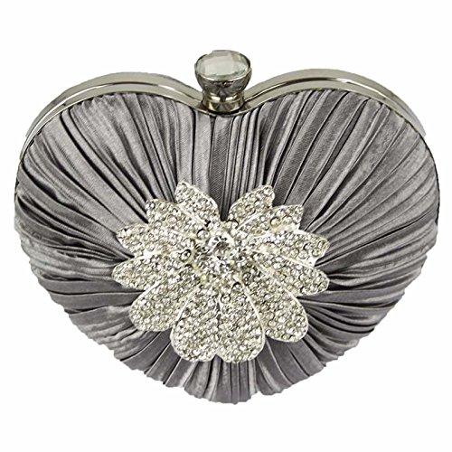 L And S Handbags, Poschette giorno donna Grey