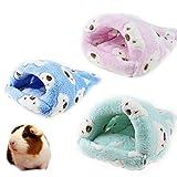 Ratten Hamster House Bett Winter Warm Fleece Small Pet Eichhörnchen Igel Chinchilla Kaninchenkäfig Meerschweinchen Bett Haus Nest Hamster Zubehör