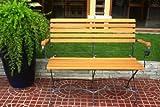 Vamundo Gartenbank Kaffeehausbank 2-Sitzer klappbar Stahl Eukalyptus FSC-Holz