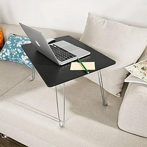 SoBuy® Tavolo portatile per Pc, tavolo da letto, in legno,