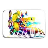 YnimioHOB Zerbino al Coperto Musica all'aperto Festival Estivo Sfondo Tastiera per Pianoforte Fiori Note Farfalla Design Web Banner Brochure Opuscoli Copertina Opaca