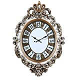 ZHDC® Stile Europeo Soggiorno casa dell'orologio di parete creativo muto L'orologio al quarzo con sveglia Camera Single-sided Orologio da tasca Home wall clock ( Colore : #1 )