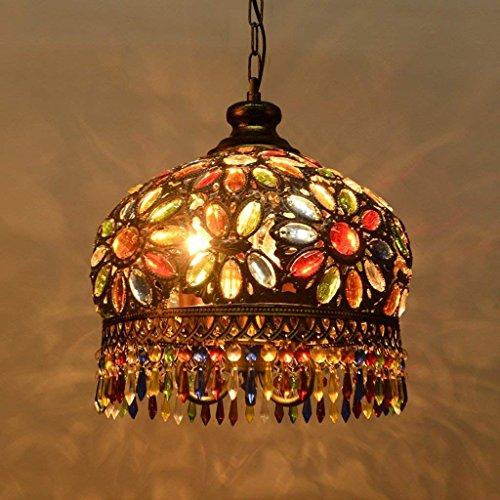 CCYJJ Kronleuchter, Retro, Eisen, mediterranes Licht, Bohème, Schlafzimmer, Restaurant Couloir Lampe (Boheme 1 Licht)