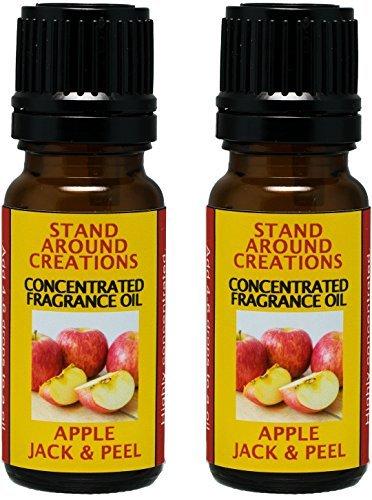 Stand Around Creations Konzentriertes Duftöl - Aroma: Apfelduft (.33 fl. Unzen) Packung mit 2 Weiß (4 Unzen Natural Spray)