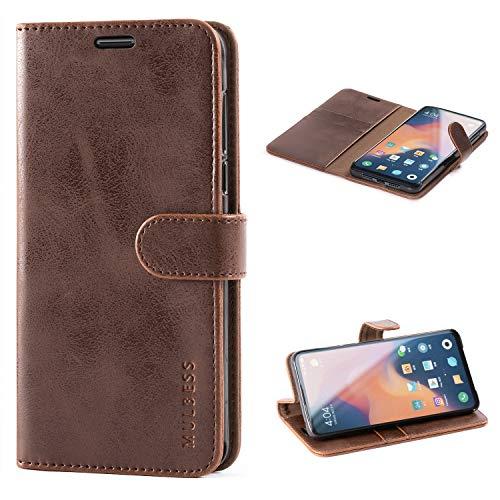 Mulbess Handyhülle für Xiaomi Mi Mix 3 Hülle, Leder Flip Case Schutzhülle für Xiaomi Mi Mix 3 Tasche, Vintage Braun