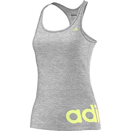 Adidas Essentials Linear Débardeur pour femme Gris - Gris/vert