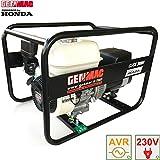 Generador de corriente HONDA 2,6kW genmac Click AVR Grupo electrógeno STABILIZZ