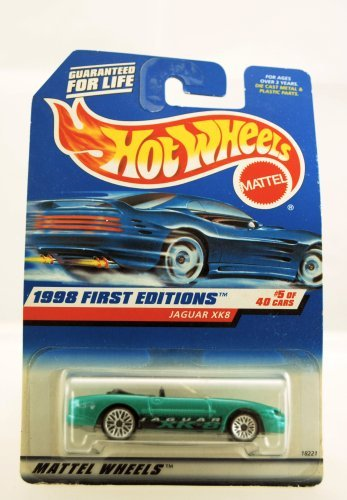 Hot Wheels - 1998 First Editions - Jaguar XK8 - #5 of 40 Cars - Green custom Paint - Collector #639 - Limited Edition - Collectible