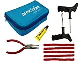 #3: Amiciauto Amicikart Tubeless Tyre Puncture Repair Complete Kit For Car And Bike (Complete Tyre Repair Kit With Easy Storage Nylon Bag)