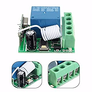 ILS. - DC12V 10A 1CH 433MHz Wireless Relay RF Remote Control Switch Receiver
